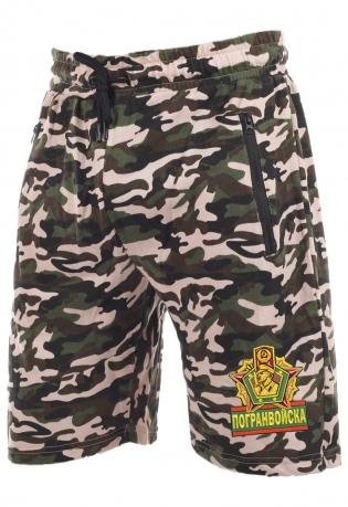 Армейские трикотажные шорты с карманами и нашивкой Погранвойска