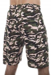 Армейские трикотажные шорты с карманами и нашивкой Погранвойска - купить оптом