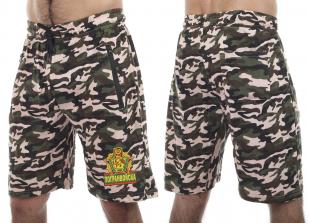 Армейские трикотажные шорты с карманами и нашивкой Погранвойска - купить по низкой цене