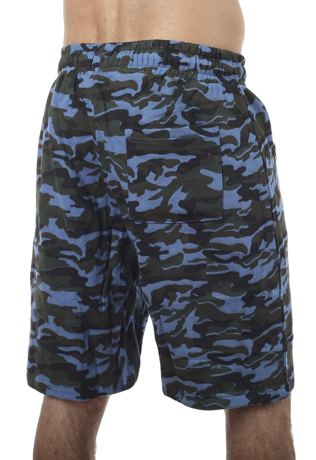 Армейские трикотажные шорты с нашивкой Погранвойска - заказать онлайн