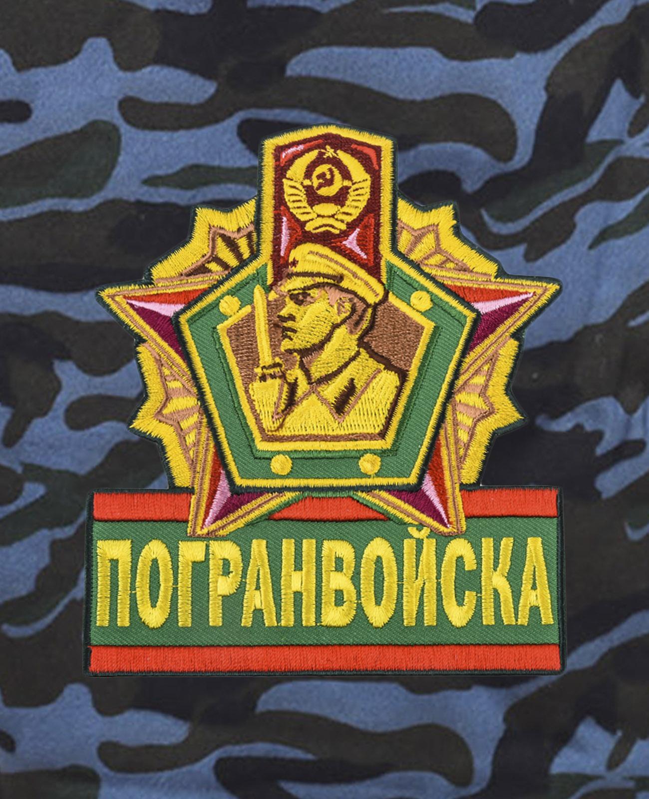 Армейские трикотажные шорты с нашивкой Погранвойска