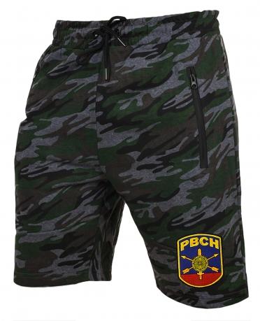 Армейские трикотажные шорты с нашивкой РВСН