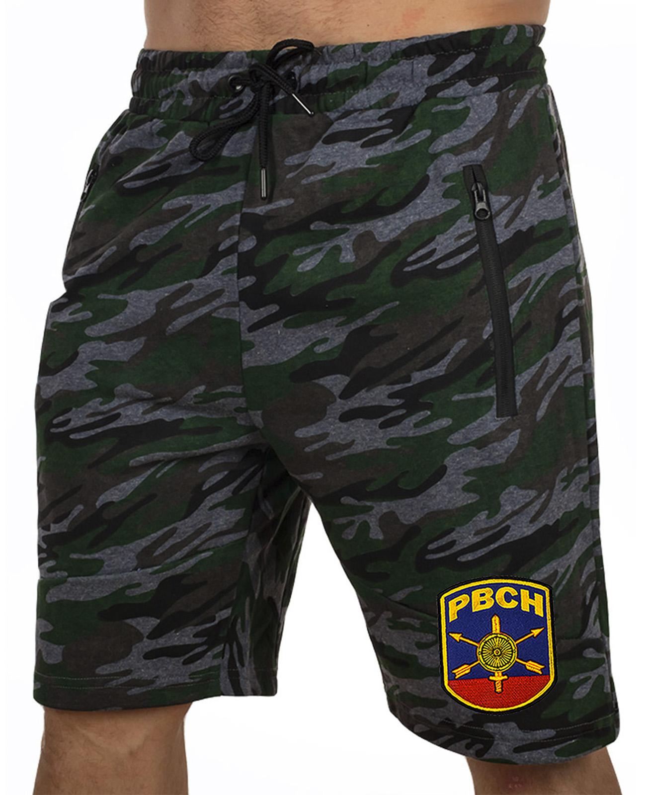 Купить армейские трикотажные шорты с нашивкой РВСН по специальной цене