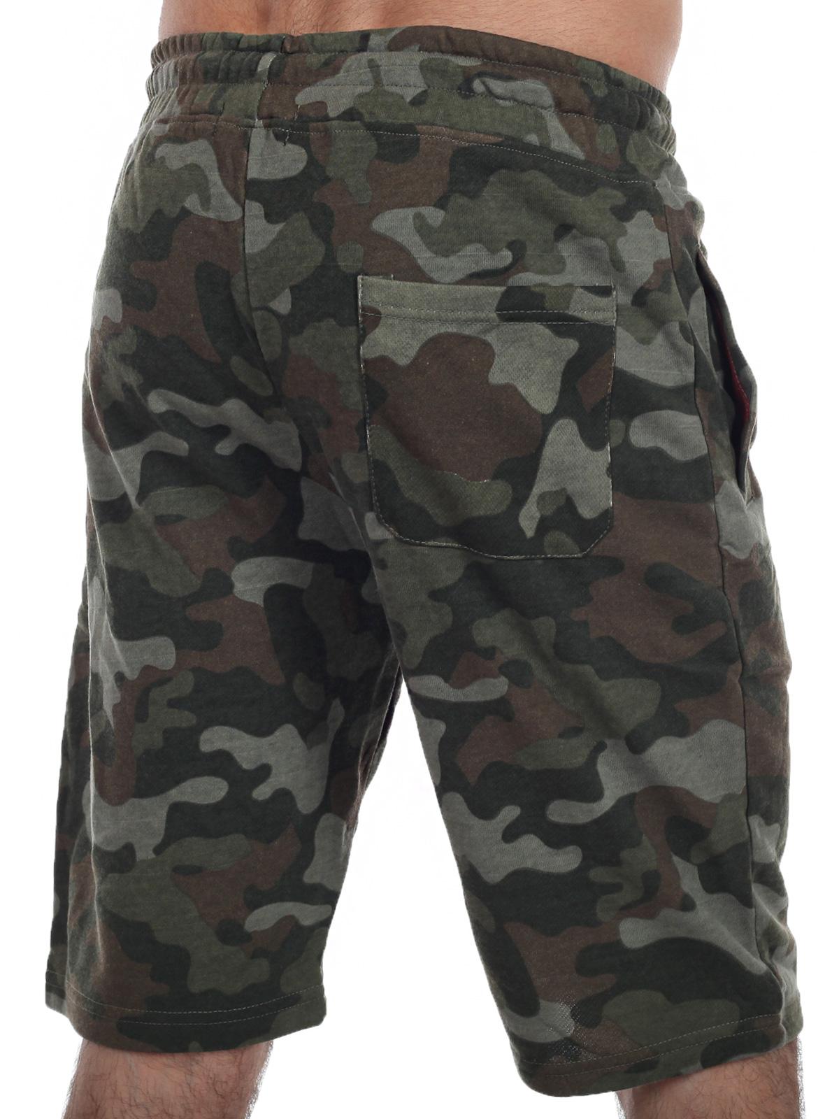 Армейские удлиненные милитари шорты с нашивкой Росгвардия - заказать выгодно