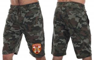 Армейские удлиненные милитари шорты с нашивкой Росгвардия - заказать оптом