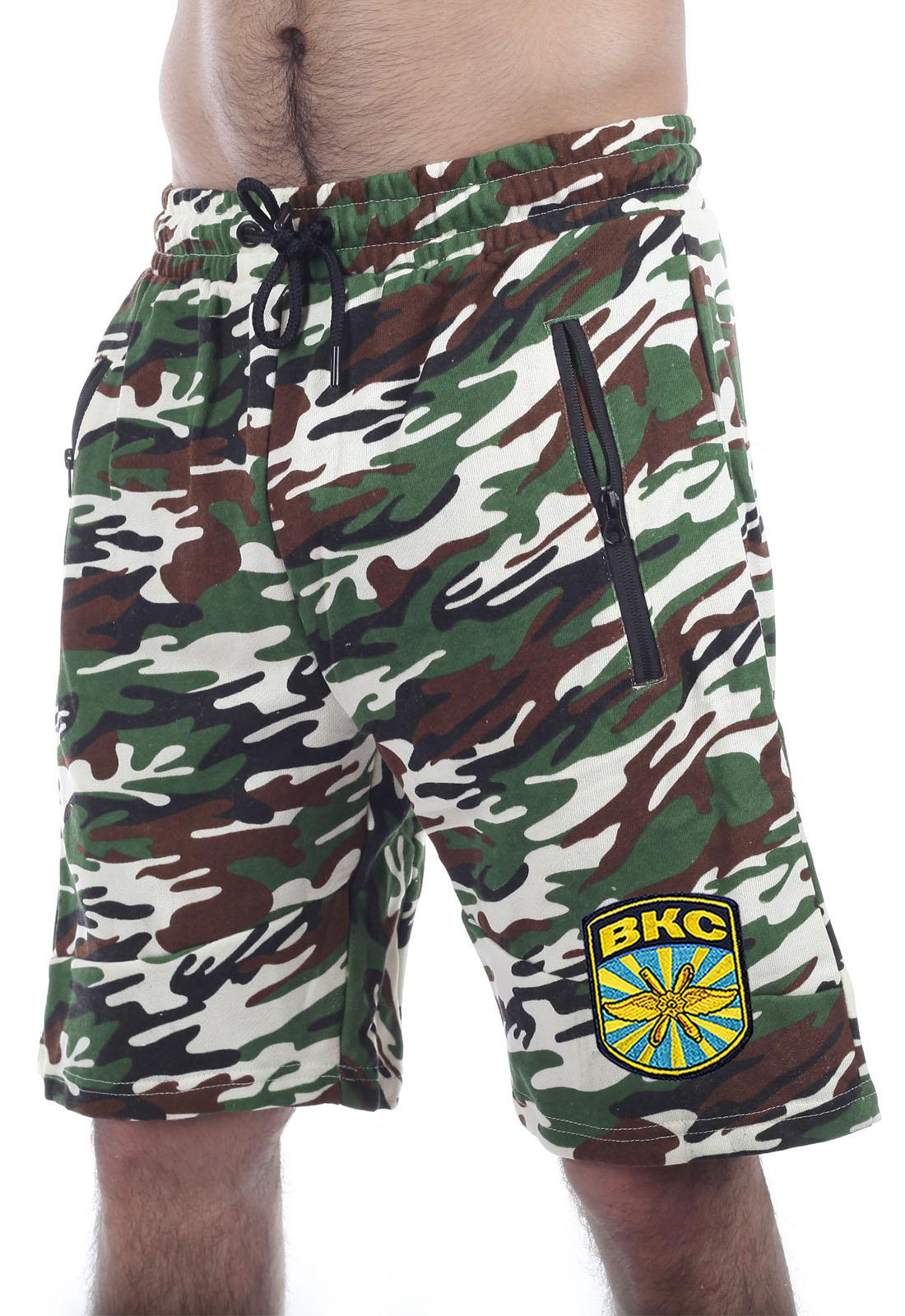 Купить армейские зачетные шорты нашивкой ВКС в подарок мужчине