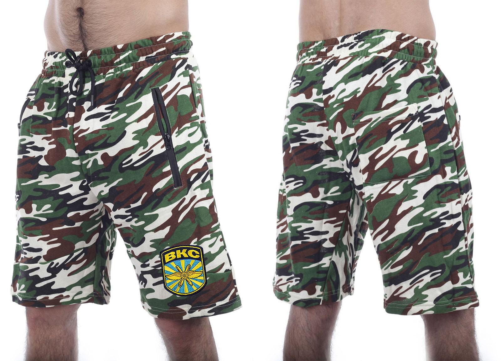Армейские зачетные шорты нашивкой ВКС -- купить выгодно