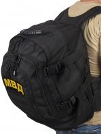 Армейский черный рюкзак с нашивкой МВД