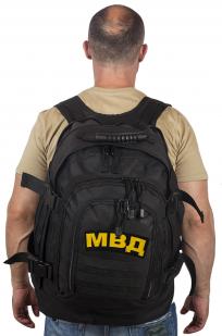 Армейский черный рюкзак с нашивкой МВД - купить оптом