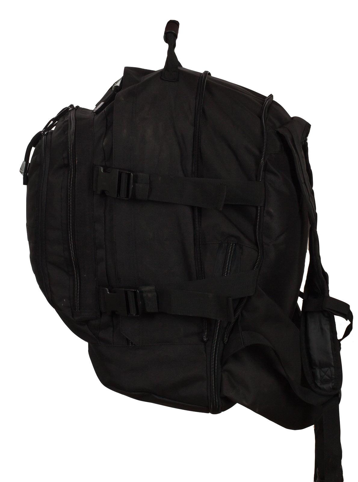 Армейский черный рюкзак с нашивкой МВД - заказать онлайн