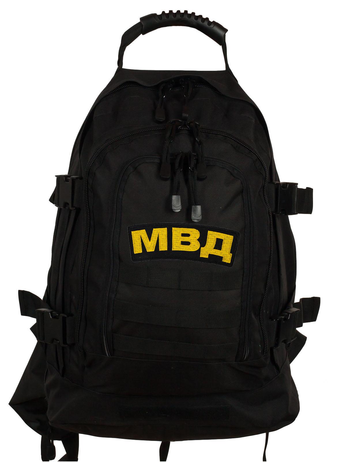 Армейский черный рюкзак с нашивкой МВД - заказать выгодно