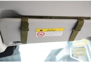 Армейский органайзер на солнезащитный козырек авто (хаки-песок)