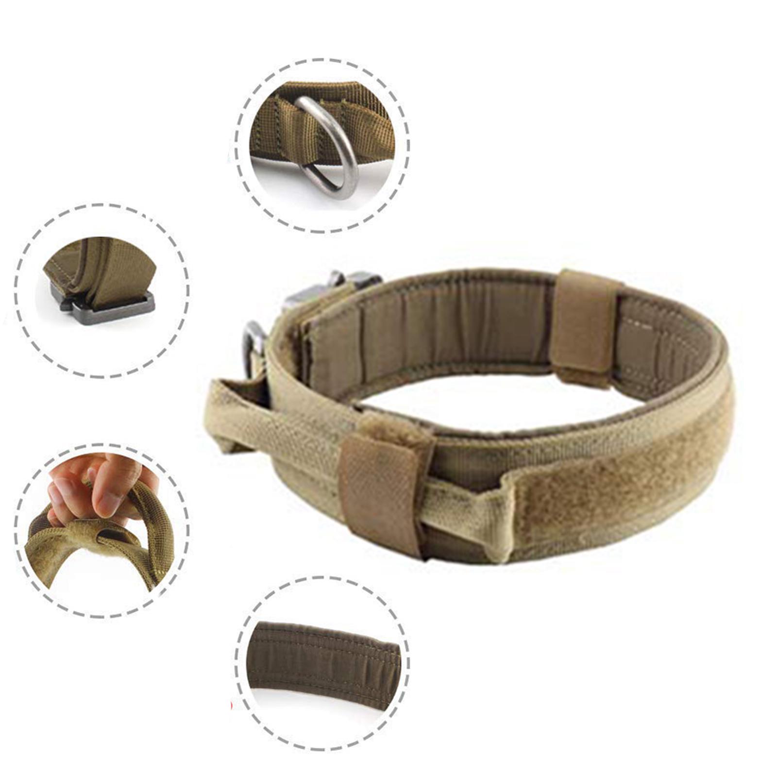 Армейский ошейник для служебных собак с замком Cobra (хаки-песок)
