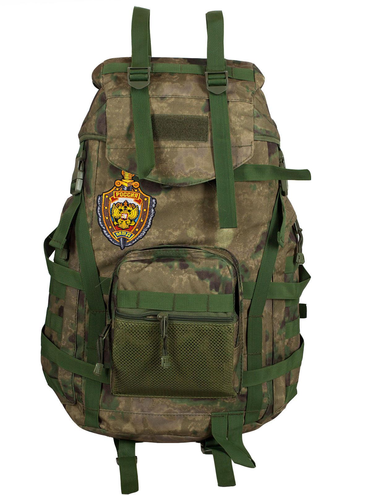 Армейский походный рюкзак камуфляж A-TACS FG с эмблемой МВД