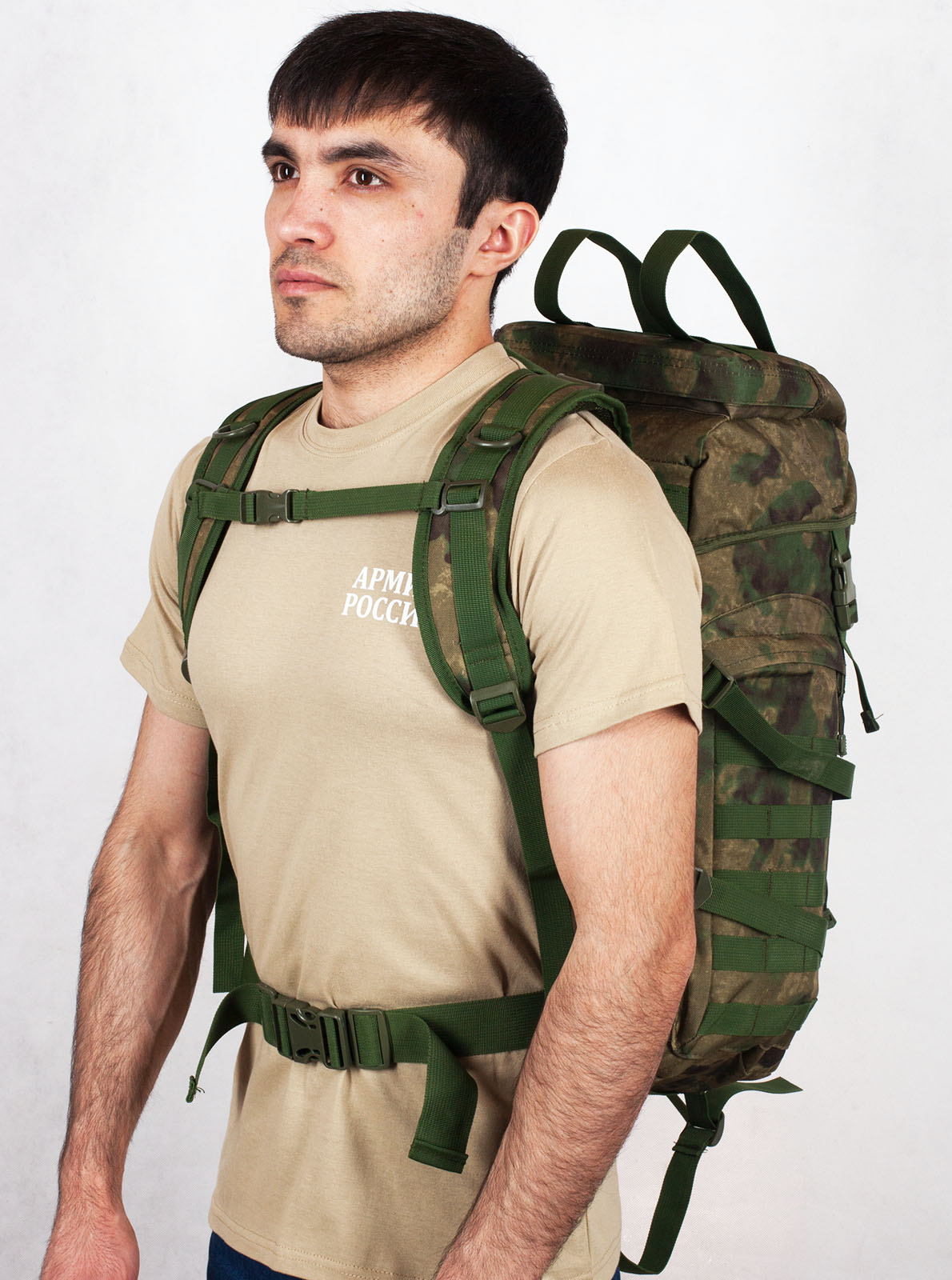 Армейский походный рюкзак камуфляж A-TACS FG с эмблемой РВСН - заказать в подарок
