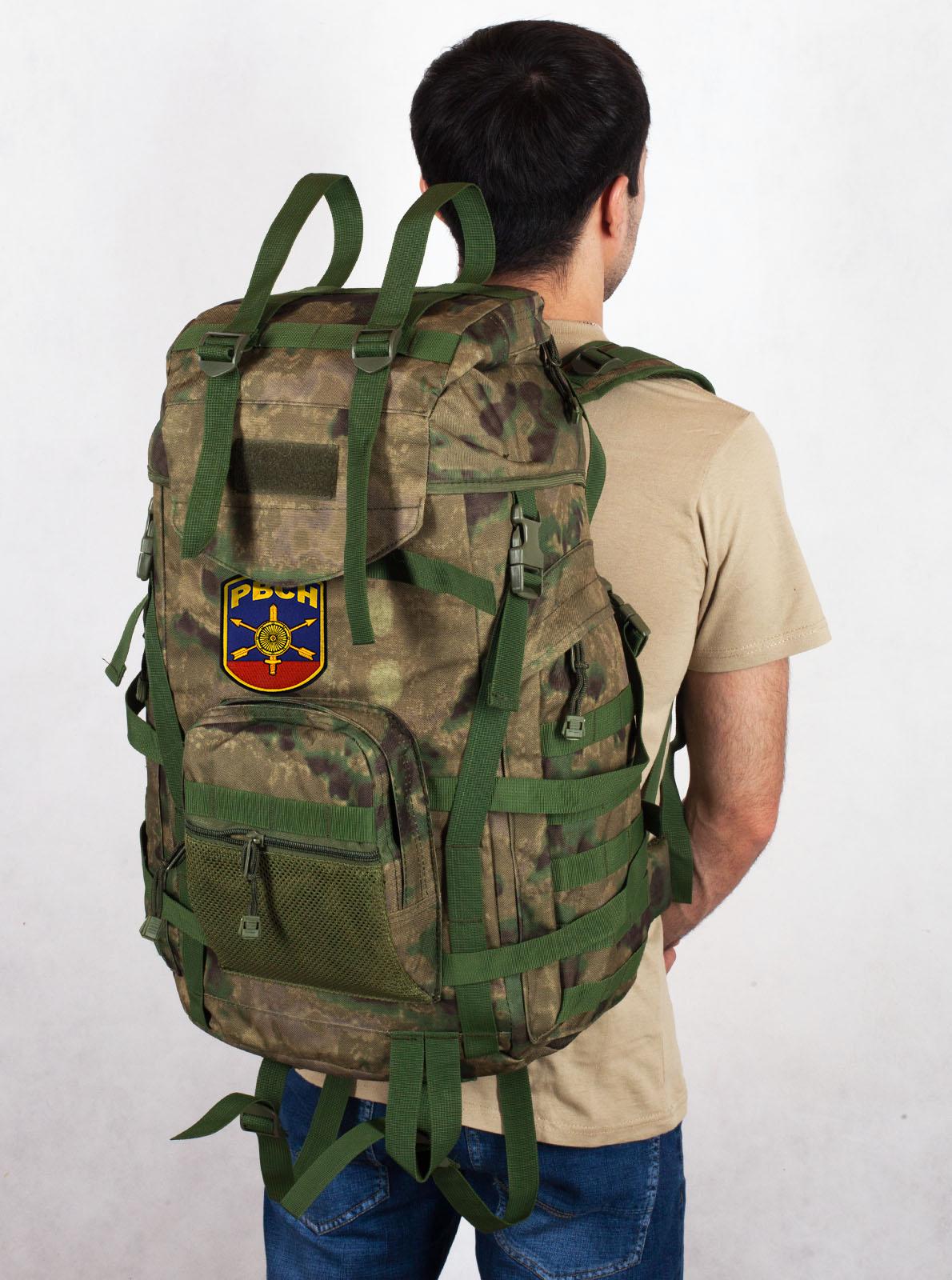 Армейский походный рюкзак камуфляж A-TACS FG с эмблемой РВСН - купить онлайн