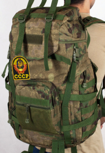 Армейский походный рюкзак камуфляж A-TACS FG с эмблемой СССР