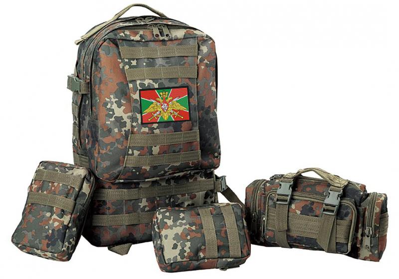 Армейский походный рюкзак  с эмблемой ПОГРАНВОЙСК - купить по низкой цене