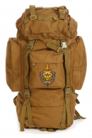 Армейский рейдовый рюкзак на 60 литров (хаки-песок) с эмблемой МВД