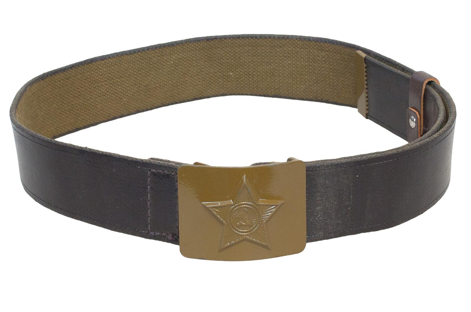 Армейский ремень кожаный
