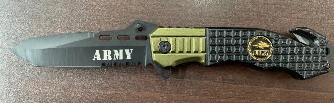 Армейский складной нож со стропорезом и стеклобоем
