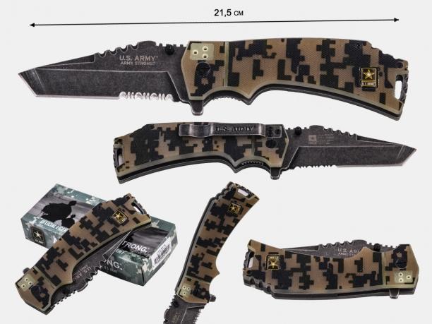 Армейский складной нож US Army A-1021 CS Liner Locker Digital Camo (США)