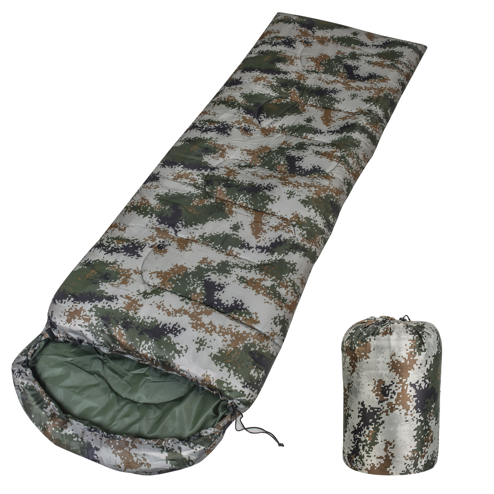 Армейский спальный мешок 210х70 1.8 кг