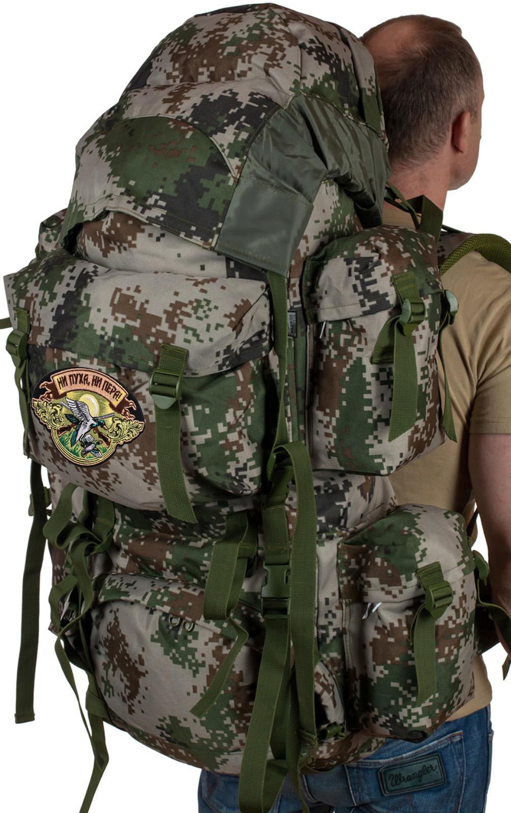 охотничий вместительный рюкзак с нашивкой Ни Пуха ни Пера - купить в подарок