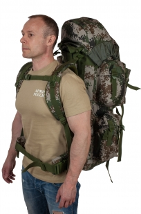 охотничий вместительный рюкзак с нашивкой Ни Пуха ни Пера - купить выгодно