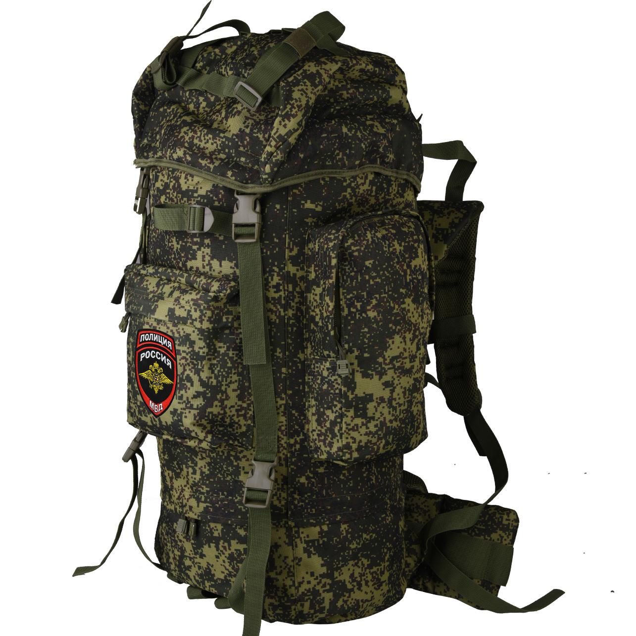 Армейский вместительный рюкзак с нашивкой Полиция России - заказать онлайн