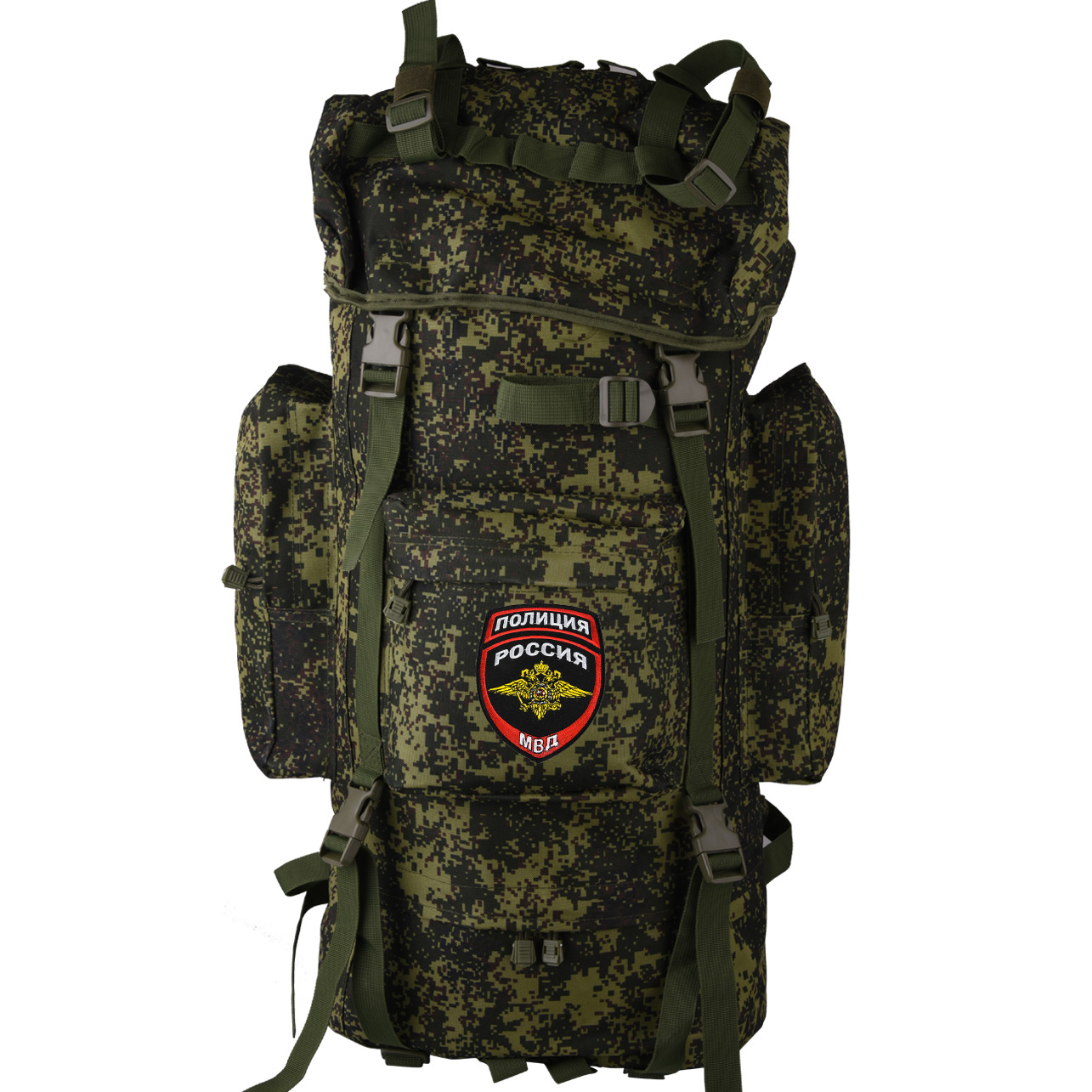 Армейский вместительный рюкзак с нашивкой Полиция России - заказать выгодно