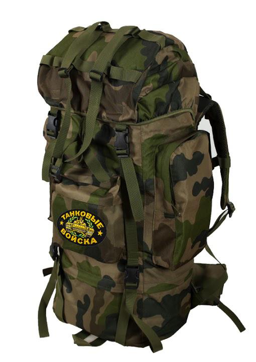 Армейский внушительный рюкзак с нашивкой Танковые Войска - купить оптом