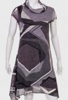 КУпить ассиметричное платье с объемным воротом