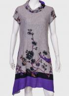 Купить ассиметричное платье с цветочным принтом