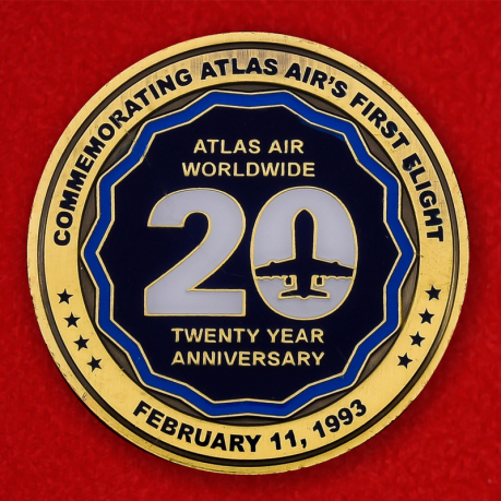 Atlas Air 20 Year Anniversary Promotional Challenge Coin