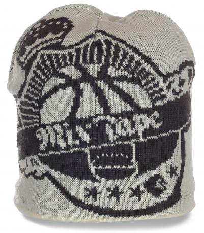 Авангардная молодежная шапка на флисе