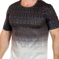 Авангардная мужская футболка Max Young Man. Смелый FLORAL STYLE ОМБРЕ