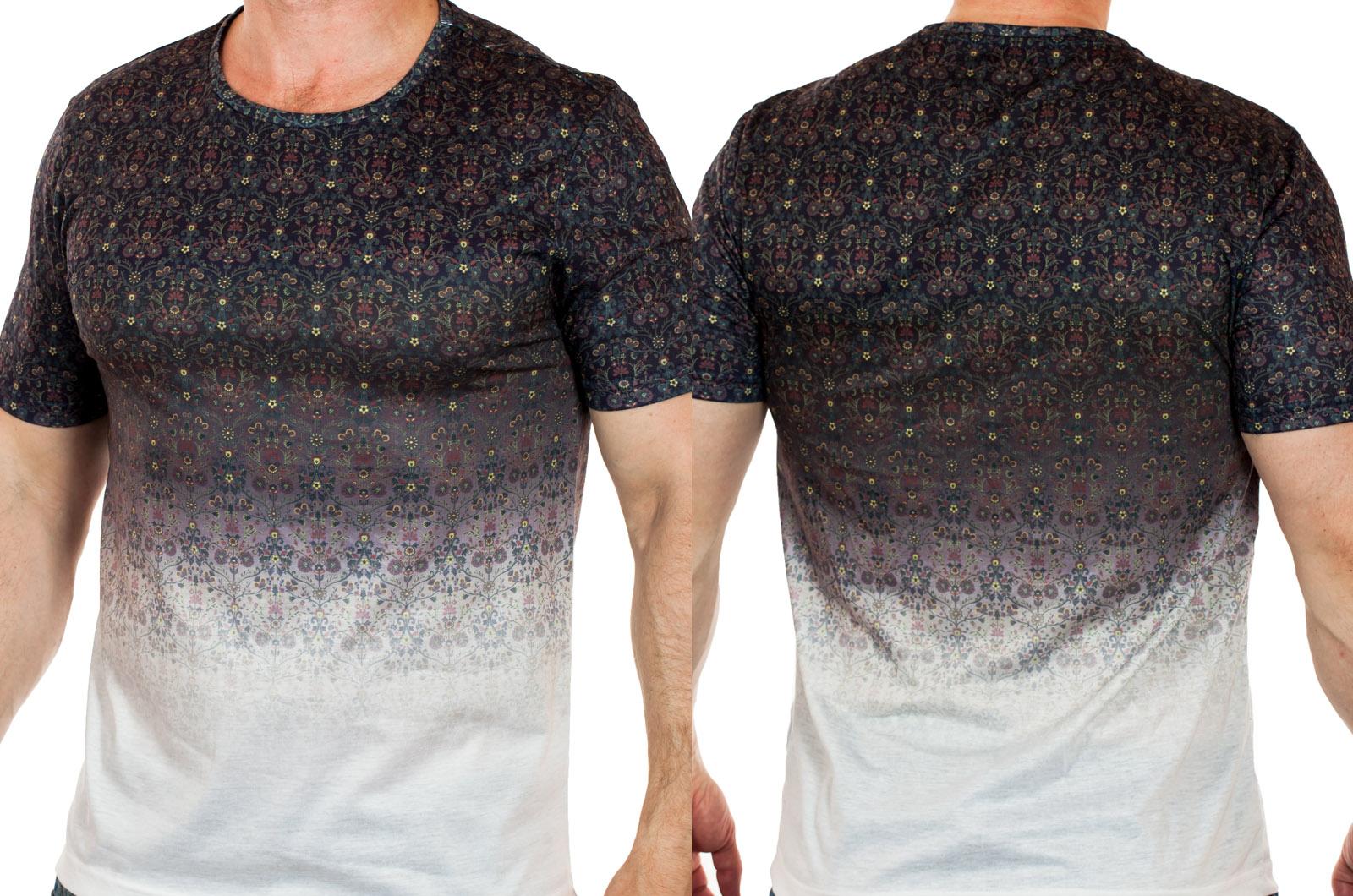 Авангардная мужская футболка Max Young Man. Смелый FLORAL STYLE