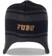 Авангардная мужская шапка с ушками от Fubu (на флисе)