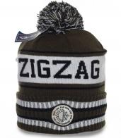 Авангардная зимняя спортивная мужская шапка отменного дизайна на флисе