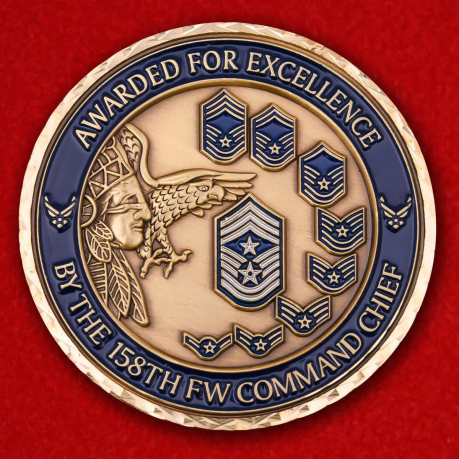 Avarder For Excellence By The 158TH FW Command Chief Challenge Coin