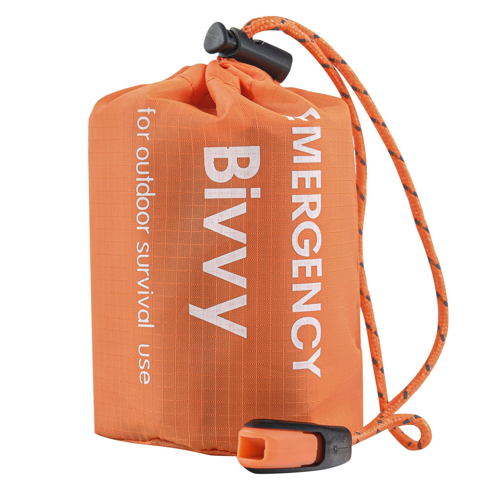 Аварийно-спасательный спальный мешок выживальщика (термопокрывало)