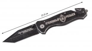 """Аварийно-тактический нож с гравировкой """"Уголовный розыск"""" - длина"""