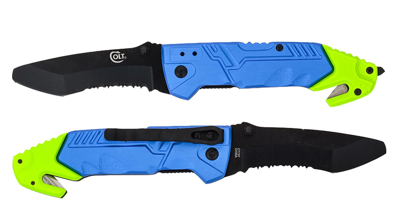 Аварийный складной нож со стеклобоем Colt Rescue Linerlock CT737 (США) - купить оптом