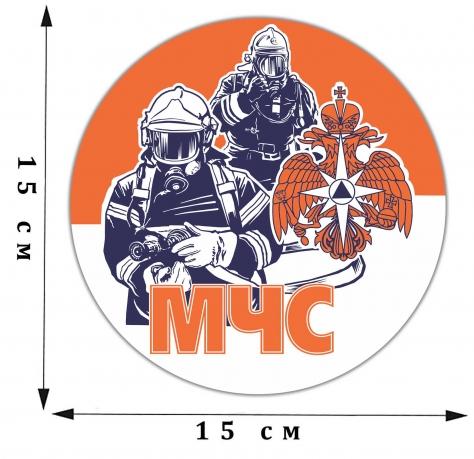 Автомобильная виниловая наклейка МЧС