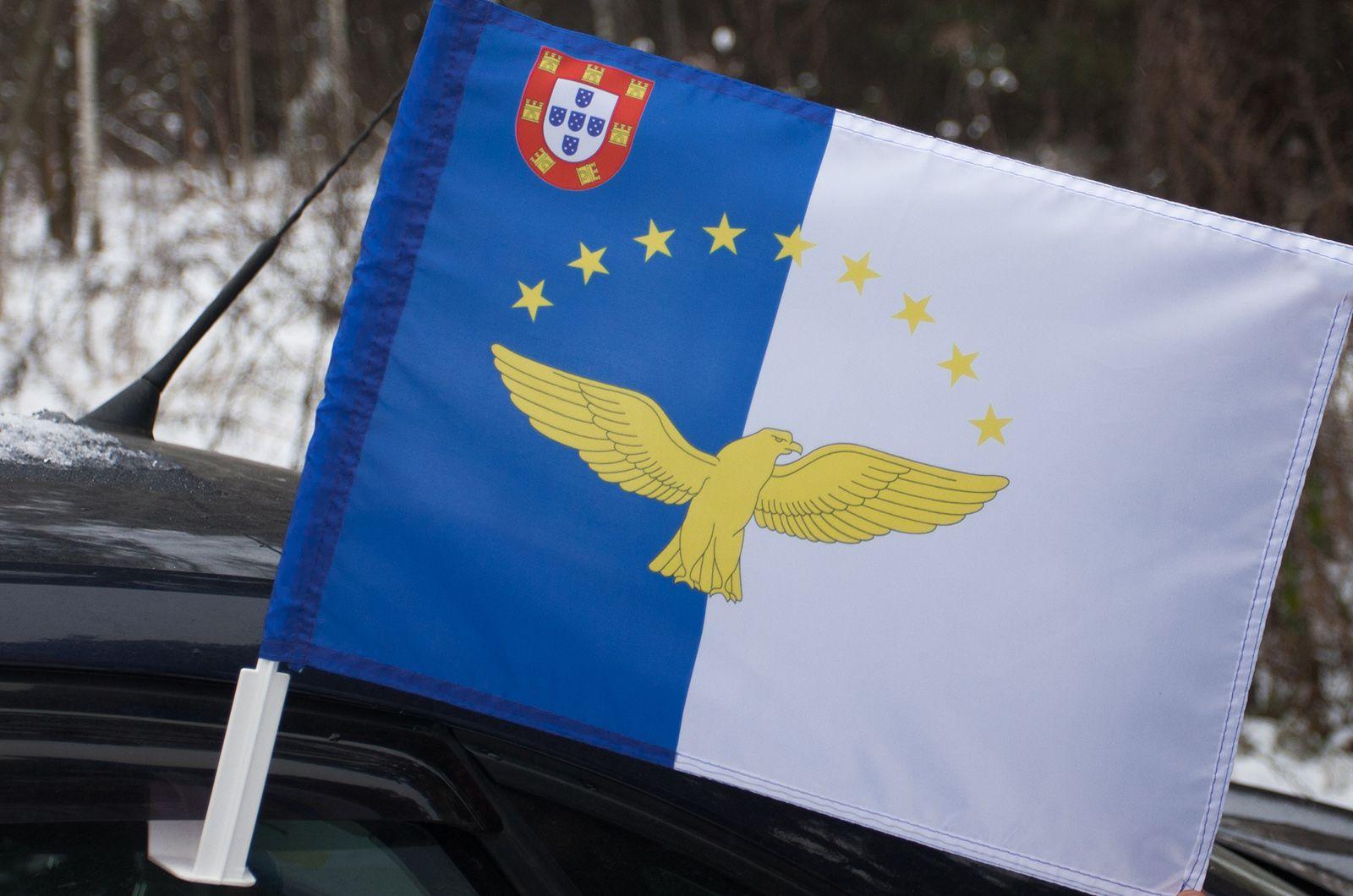 Автомобильный флаг Азорских островов