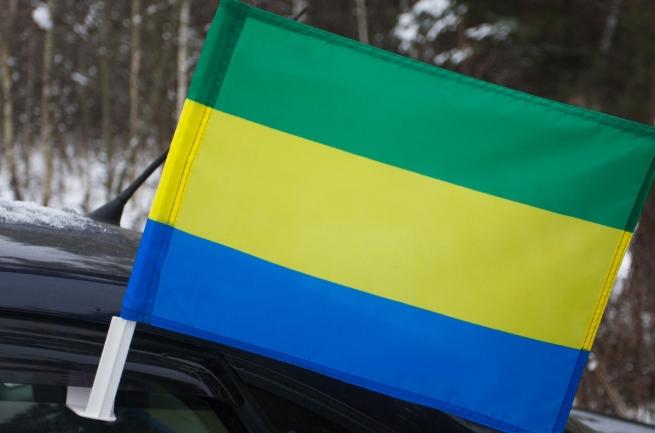 Автомобильный флаг Габона