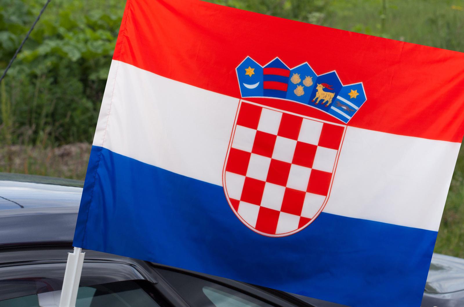 Автомобильный флаг Хорватии