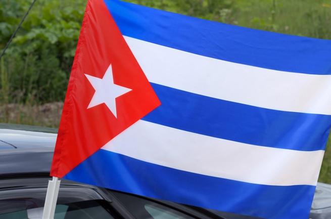 Автомобильный флаг Кубы