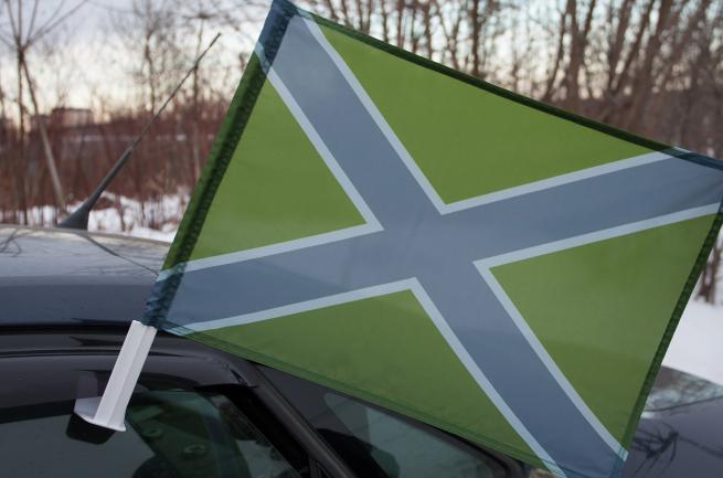 Автомобильный флаг полевой Новороссии